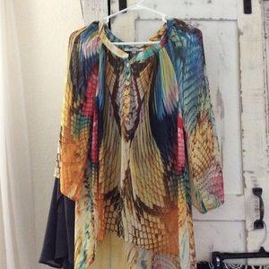 Bellissima sheer blouse. Size Small, runs big